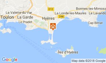 Kaart Hyères Huis 114738