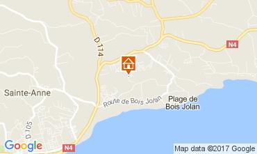 Kaart Sainte Anne(Guadeloupe) Bungalow 58644