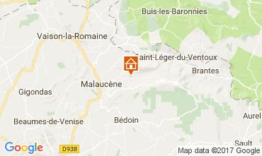 Kaart Beaumont du Ventoux Vakantiehuis 12129