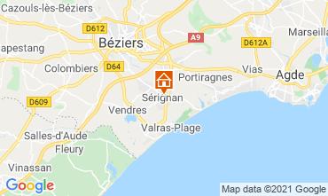 Kaart Sérignan Plage (strand) Appartement 93177