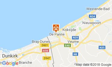 Kaart De Panne Villa 116743