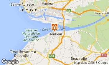 Kaart Honfleur Appartement 72449
