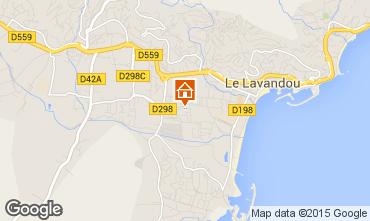 Kaart Le Lavandou Appartement 8570