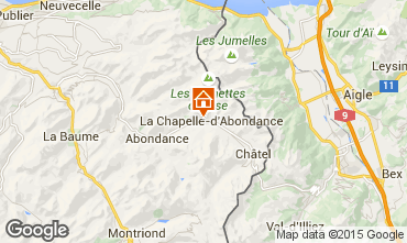 Kaart La Chapelle d'Abondance Chalet 94027