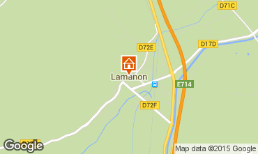 Kaart Lamanon Vakantiehuis 63660