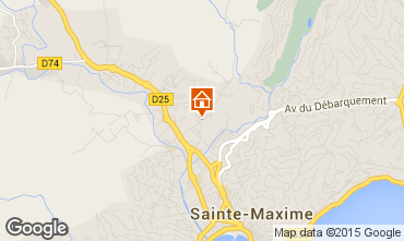Kaart Sainte Maxime Villa 100051