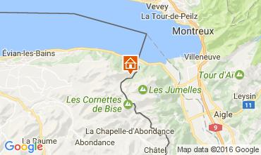 Kaart Evian les Bains Huis 84422