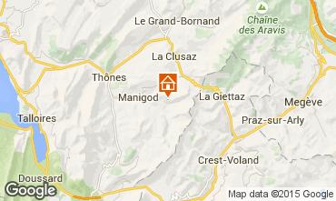 Kaart La Clusaz Appartement 101312