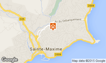 Kaart Sainte Maxime Huis 22491
