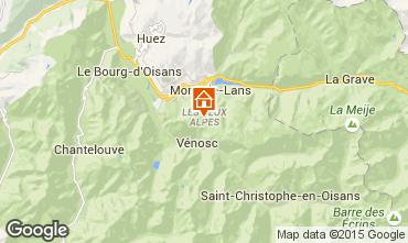 Kaart Les 2 Alpes Appartement 58188