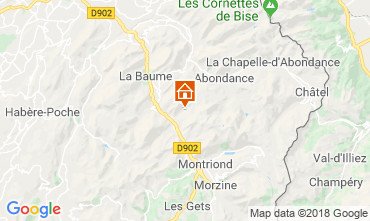 Kaart Morzine Chalet 116537