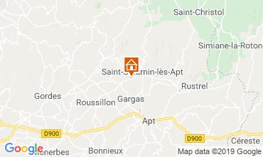 Kaart Saint Saturnin les Apt Vakantiehuis 118385