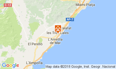Kaart La Ametlla de Mar Villa 113378