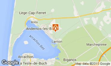 Kaart Andernos les Bains Vakantiehuis 91292