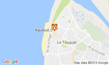 Kaart Le Touquet Appartement 106167