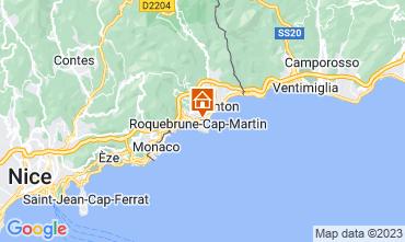 Kaart Roquebrune Cap Martin Studio 87369