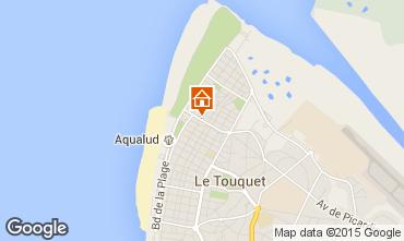 Kaart Le Touquet Villa 101677