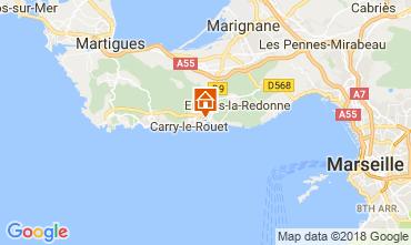 Kaart Carry le Rouet Villa 105398