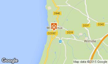 Kaart Wimereux Appartement 52949