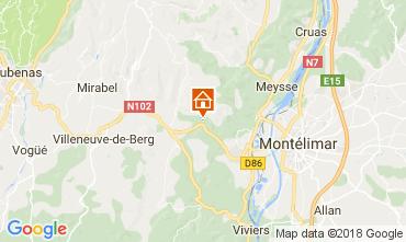 Kaart Vallon-Pont-D'Arc Villa 112399