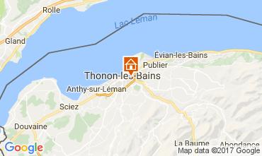 Kaart Thonon Les Bains Appartement 110536