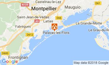 Kaart Palavas-les-Flots Appartement 113745