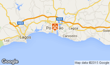 Kaart Praia da Rocha Appartement 57982