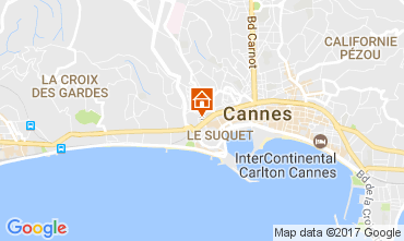 Kaart Cannes Appartement 109194