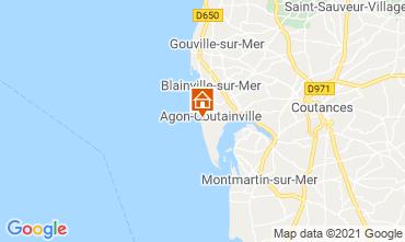 Kaart Agon-Coutainville Villa 15234