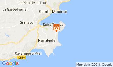 Kaart Saint Tropez Stacaravan 30322