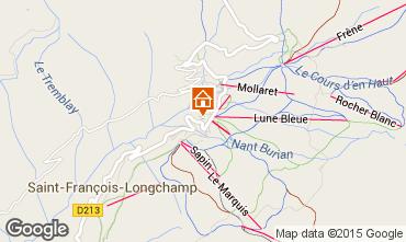 Kaart Saint François Longchamp Appartement 73700