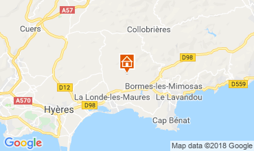 Kaart Hyères Villa 98154