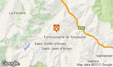 Kaart La Toussuire Studio 3184