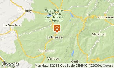 Kaart La Bresse Hohneck Vakantiehuis 4549