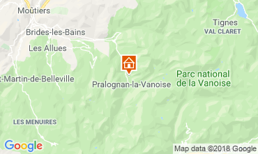 Kaart Pralognan la Vanoise Vakantiehuis 45684