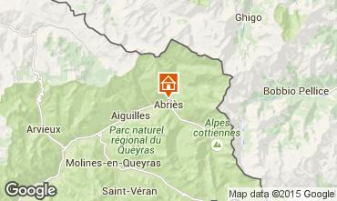 Kaart Abriès Chalet 69713