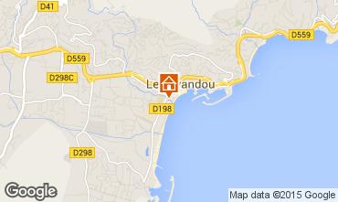 Kaart Le Lavandou Appartement 101308