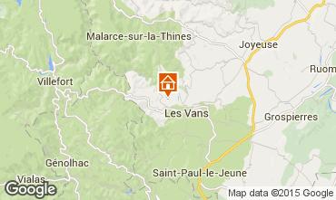 Kaart Vallon-Pont-D'Arc Vakantiehuis 99133