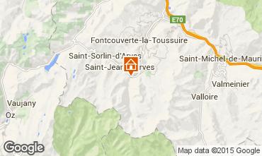 Kaart Saint Jean d'Arves Chalet 2501