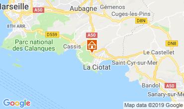 Kaart La Ciotat Huis 119180