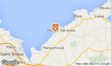 Kaart Pleneuf Val André Appartement 77337