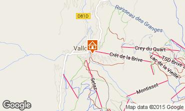 Kaart Valloire Appartement 27146