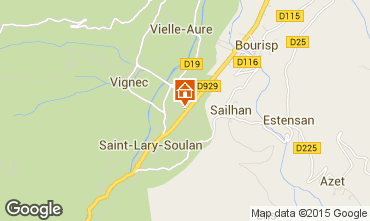 Kaart Saint Lary Soulan Studio 28235