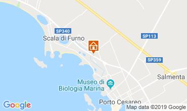 Kaart Porto Cesareo Appartement 118084
