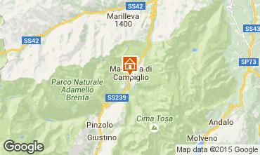 Kaart Madonna di Campiglio Appartement 81910