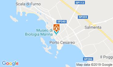 Kaart Porto Cesareo Appartement 83720