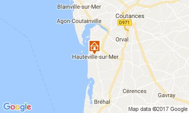 Kaart Hauteville-sur-Mer Vakantiehuis 40949