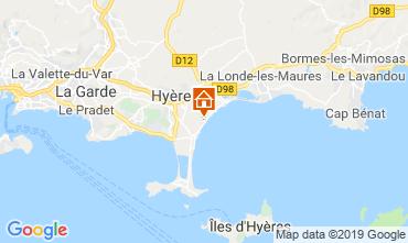 Kaart Hyères Stacaravan 117992