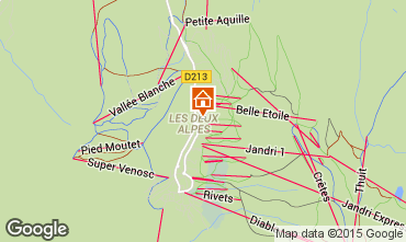 Kaart Les 2 Alpes Appartement 26960