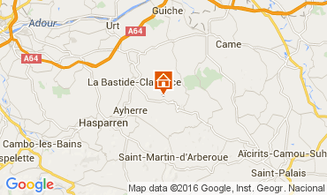 Kaart Biarritz Bungalow 53095